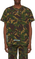 Off-White Camouflage Street Style T-Shirts