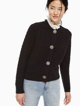 kate spade new york Cable Knit Wool Long Sleeves Plain Medium Office Style