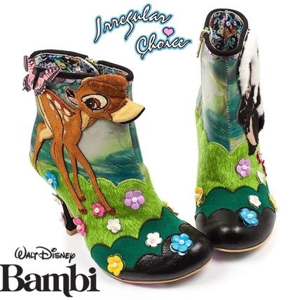 Flower Patterns Round Toe Casual Style Collaboration