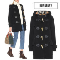 Burberry Other Check Patterns Casual Style Wool Plain Medium Coats