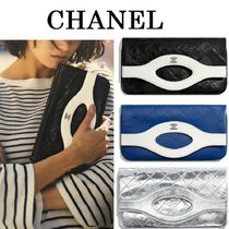 CHANEL Calfskin Bag in Bag Handmade Party Style Clutches