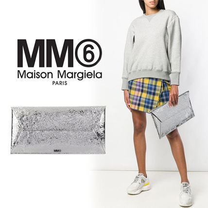 Street Style Plain Party Style Glitter Clutches