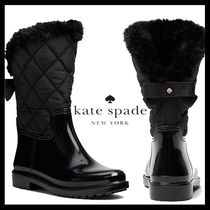 kate spade new york Mountain Boots Round Toe Rubber Sole Casual Style Enamel