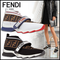 FENDI Monogram Casual Style PVC Clothing Low-Top Sneakers