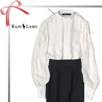 Ralph Lauren Plain Office Style Puff Sleeves Shirts & Blouses