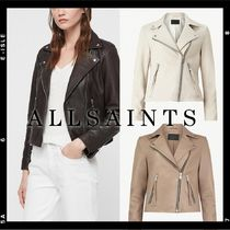 ALLSAINTS SPITALFIELDS Plain Leather Medium Biker Jackets