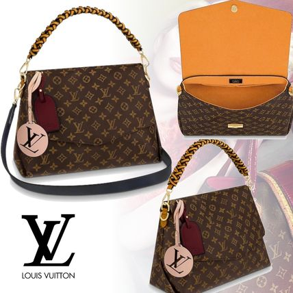Louis Vuitton Handbags Monogram 2WAY Leather Elegant Style Handbags