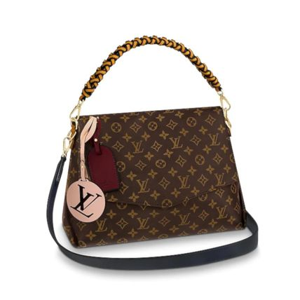 Louis Vuitton Handbags Monogram 2WAY Leather Elegant Style Handbags 2