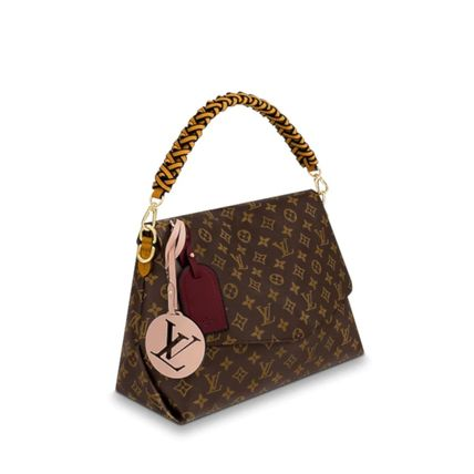 Louis Vuitton Handbags Monogram 2WAY Leather Elegant Style Handbags 3