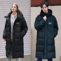 ACOVER Unisex Street Style Plain Long Oversized Down Jackets