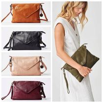 WANDERERS TRAVEL CO. Casual Style 2WAY Leather Clutches