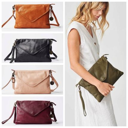 Casual Style 2WAY Leather Clutches