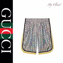 GUCCI Printed Pants Blended Fabrics Street Style Patterned Pants