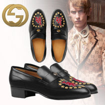 GUCCI Star Loafers Leather Loafers & Slip-ons