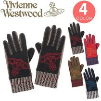 Vivienne Westwood Casual Style Wool Smartphone Use Gloves
