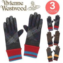 Vivienne Westwood Other Check Patterns Casual Style Wool Smartphone Use Gloves