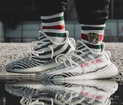 Yeezy Sneakers Zebra Patterns Street Style Collaboration Sneakers 3