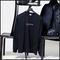 Yohji Yamamoto Crew Neck Unisex Long Sleeves Cotton Long Sleeve T-Shirts
