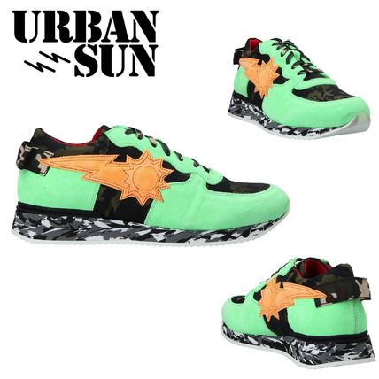 Camouflage Suede Street Style Handmade Sneakers