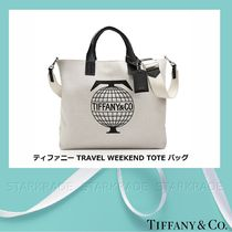 Tiffany & Co Casual Style Unisex Canvas A4 Totes