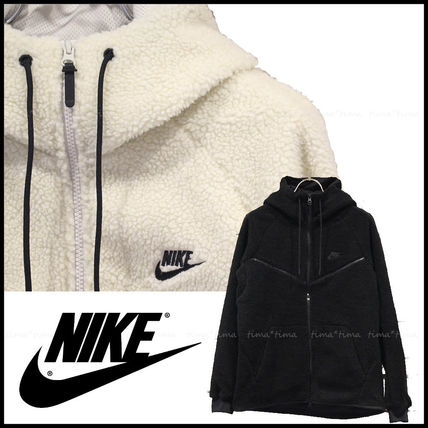 Nike Hoodies Unisex Street Style Long Sleeves Plain Hoodies 14