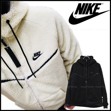 Nike Hoodies Unisex Street Style Long Sleeves Plain Hoodies