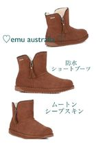 EMU Australia Casual Style Unisex Sheepskin Plain Ankle & Booties Boots