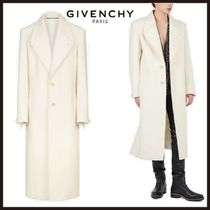GIVENCHY Cashmere Plain Long Oversized Chester Coats