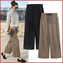 Casual Style Blended Fabrics Medium Pants