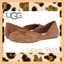 UGG Australia Sheepskin Suede Blended Fabrics Plain Ballet Shoes