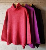 Casual Style Long Sleeves Turtlenecks