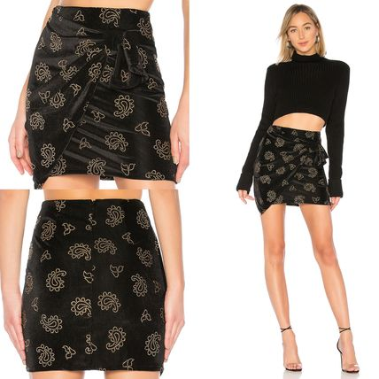 Pencil Skirts Short Paisley Skirts