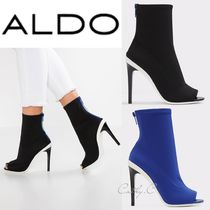 ALDO Open Toe Plain Pin Heels Elegant Style Ankle & Booties Boots