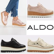 ALDO Round Toe Rubber Sole Lace-up Casual Style Unisex