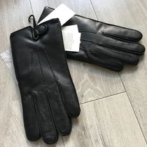 UGG Australia Plain Leather Leather & Faux Leather Gloves