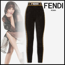FENDI Monogram Casual Style Long Focused Brands Pants
