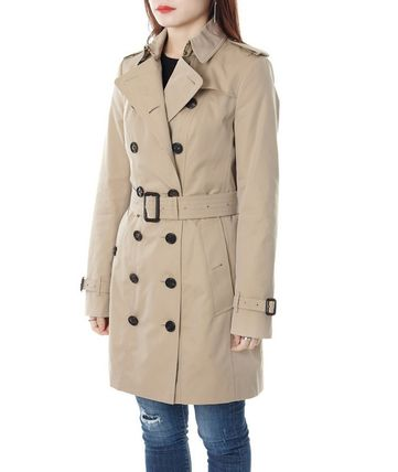 Burberry Trench Other Check Patterns Medium Elegant Style Trench Coats 3