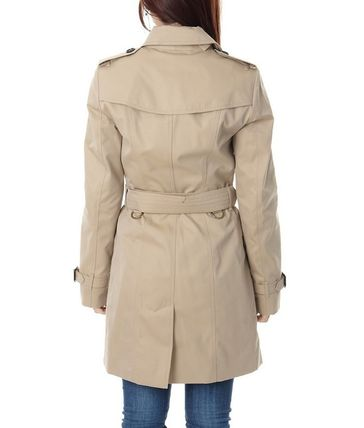 Burberry Trench Other Check Patterns Medium Elegant Style Trench Coats 5