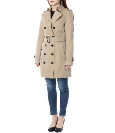 Burberry Trench Other Check Patterns Medium Elegant Style Trench Coats 7