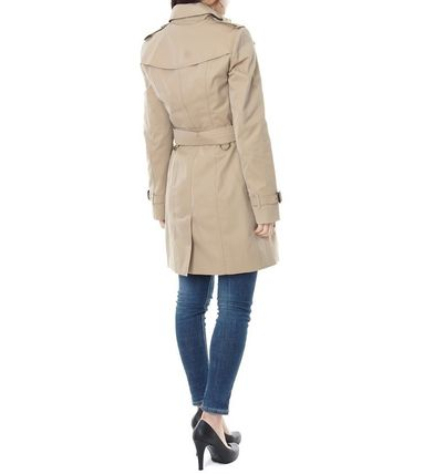 Burberry Trench Other Check Patterns Medium Elegant Style Trench Coats 8