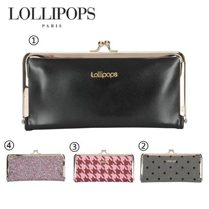 Dots Zigzag With Jewels Long Wallets