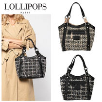 Lollipops Other Check Patterns Casual Style Handbags