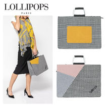 Lollipops Tartan Other Check Patterns Casual Style Totes
