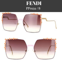 FENDI Studded Square Sunglasses