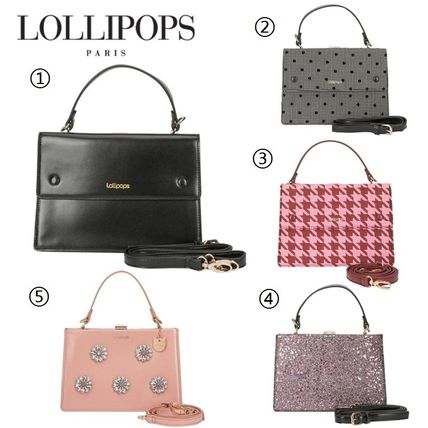 Flower Patterns Dots Casual Style 2WAY Handbags