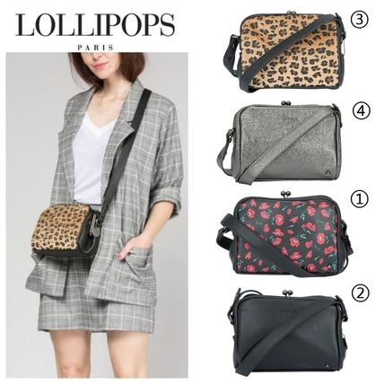 Flower Patterns Leopard Patterns Casual Style Shoulder Bags