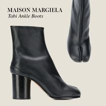 Maison Martin Margiela Round Toe Block Heels Elegant Style Ankle & Booties Boots