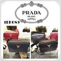 PRADA Plain Shoulder Bags