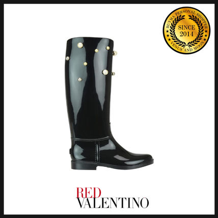 Round Toe Casual Style PVC Clothing Boots Boots