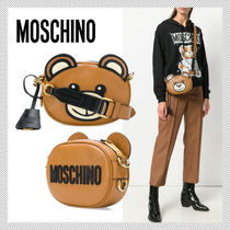 Moschino Casual Style Leather Shoulder Bags